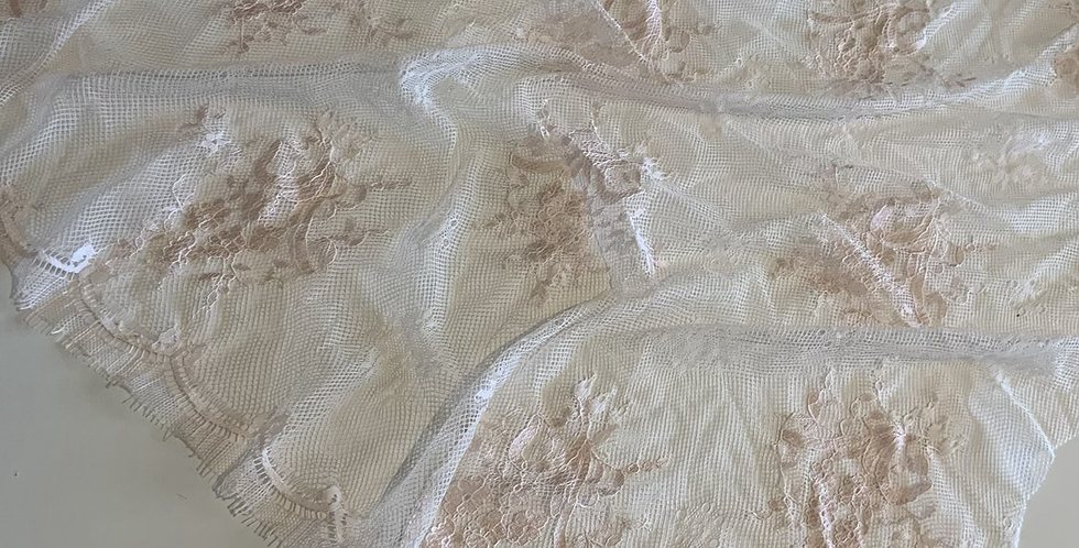 Champagne Hand Dyed Lace Piece #4025