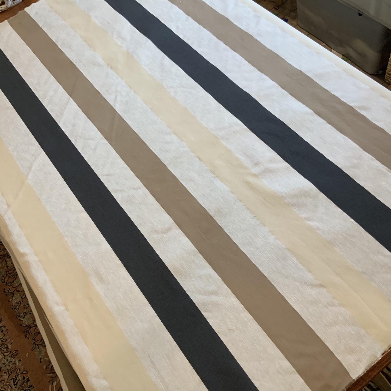 Wide Stripes Fine Polyester Blend Dupion...