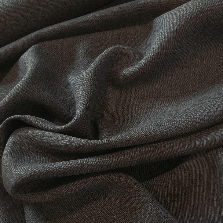 Thumbnail: Navy Yarn Dyed Linen....