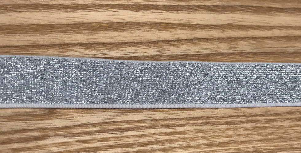 Grey Silver Lurex Strapping Elastic....