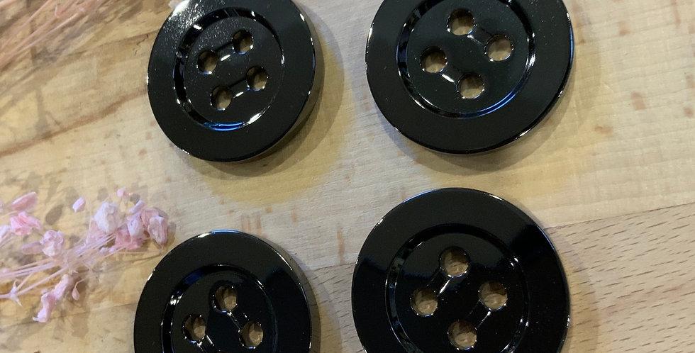 4 Gunmetal Buttons