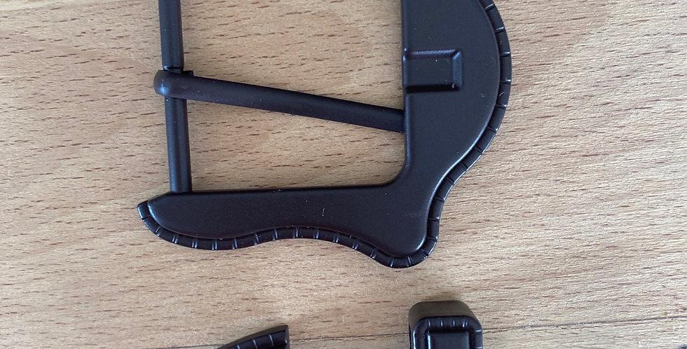 Cowgirl belt buckle set dark chocolate