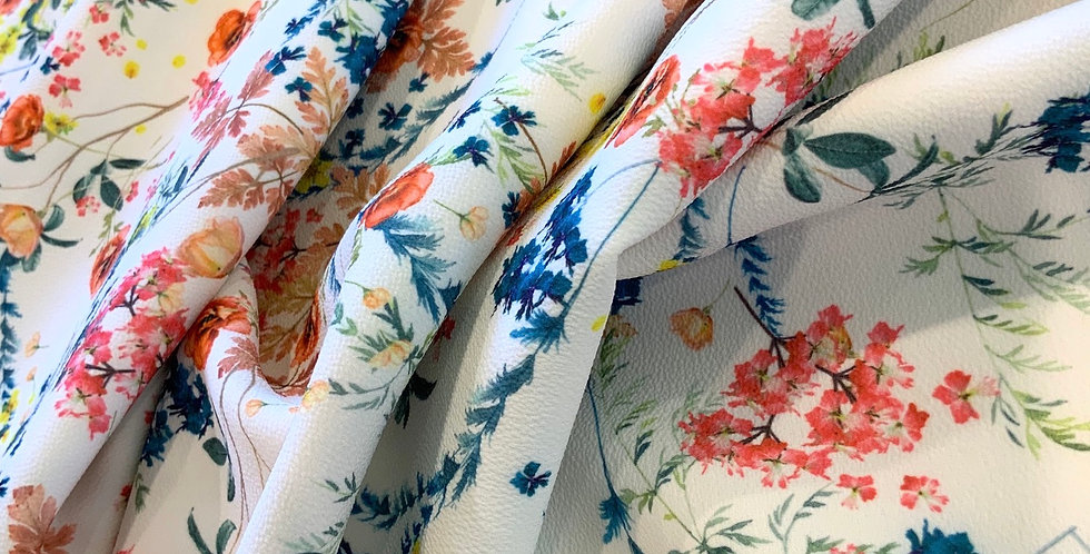 Summer Bloom Fused Polyester Crepe...
