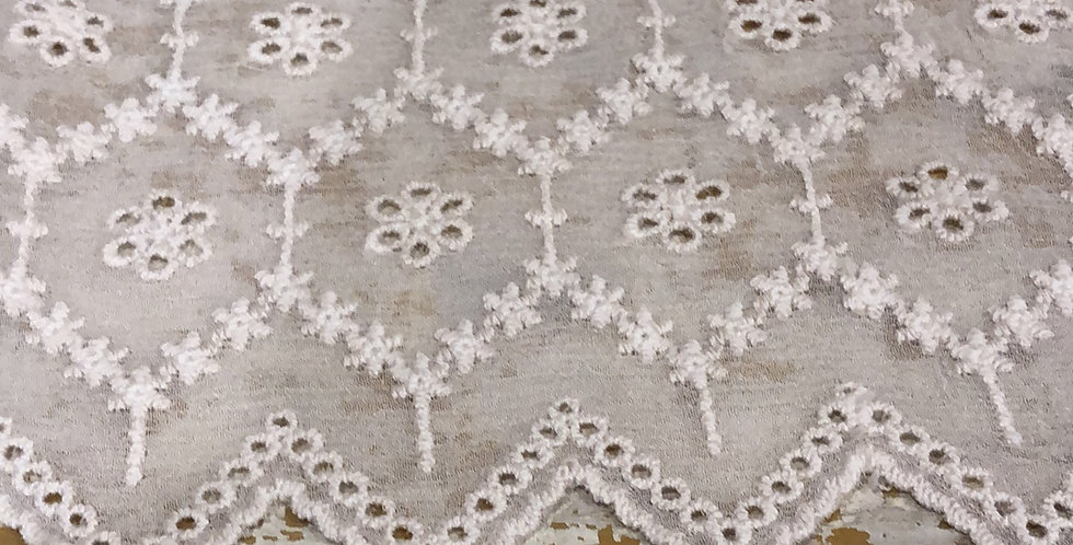 Flower garland embroidered silk trim medium