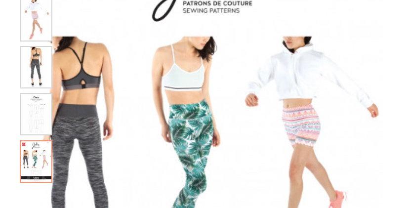 jalie clara tights printed pattern