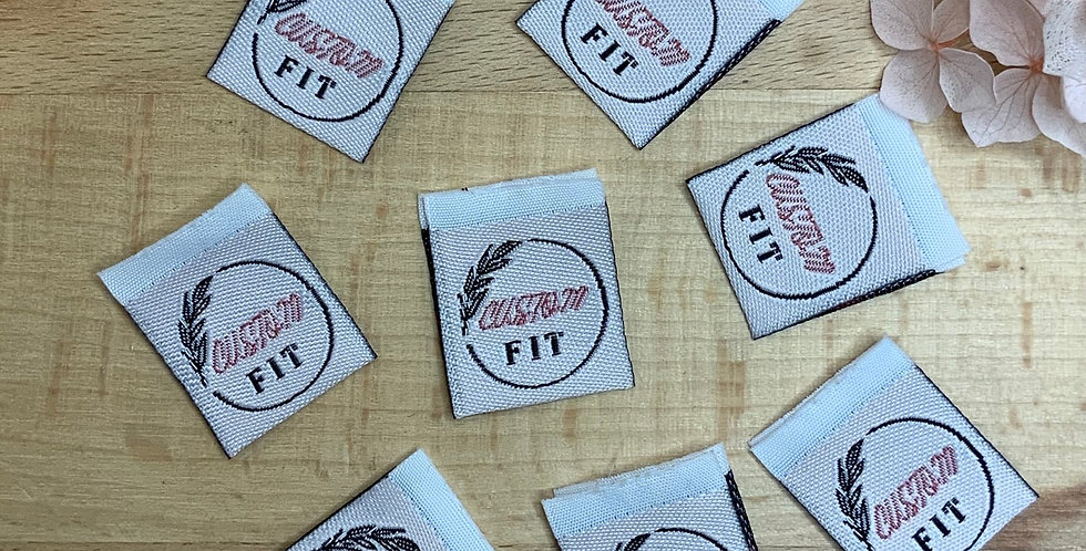 Set of 8 CUSTOM FIT Embroidered Cloth Labels..