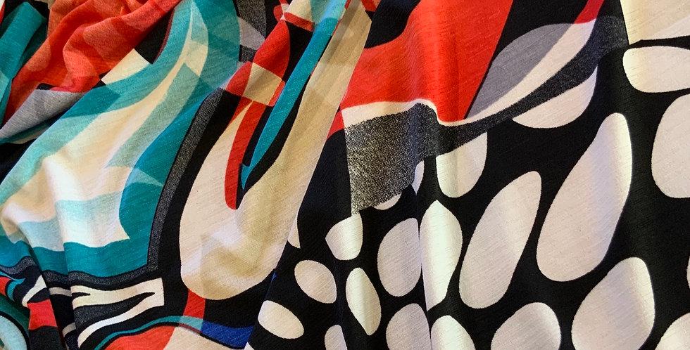 Groovy Swirl Polyester Jersey Panel...