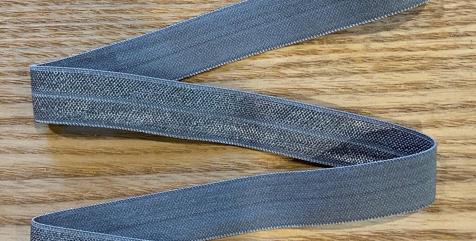 Steel 15mm Satin Finish Foldover Elastic