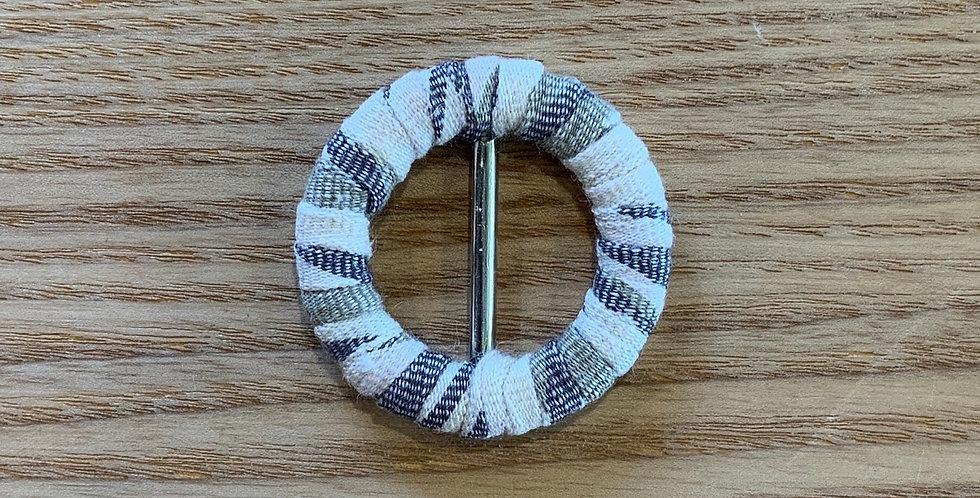 Indo Cream Cotton Covered Belt Buckle...