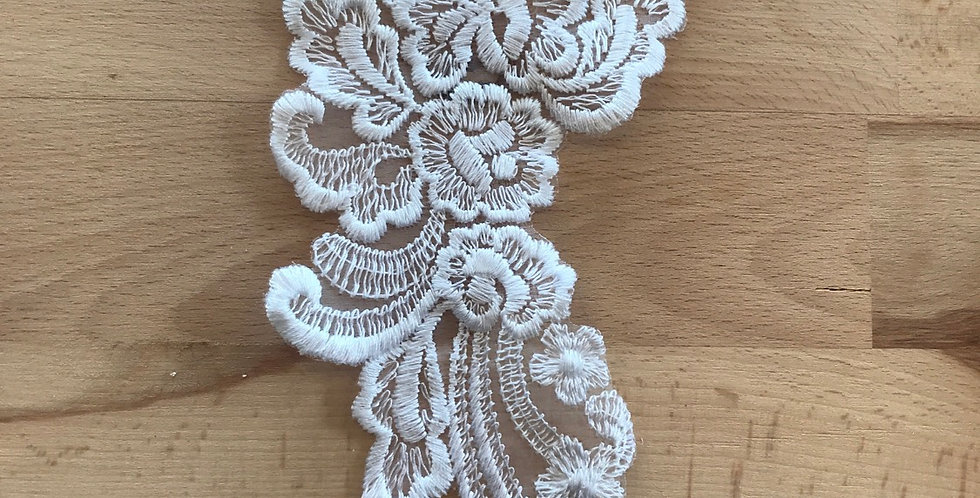 Embroidered posy motif