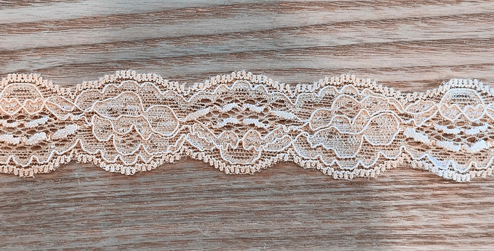 Peach Sherbet Hand Dyed Stretch Lace...