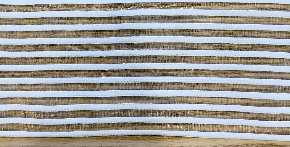 White Sheer Stripes Strapping Elastic...