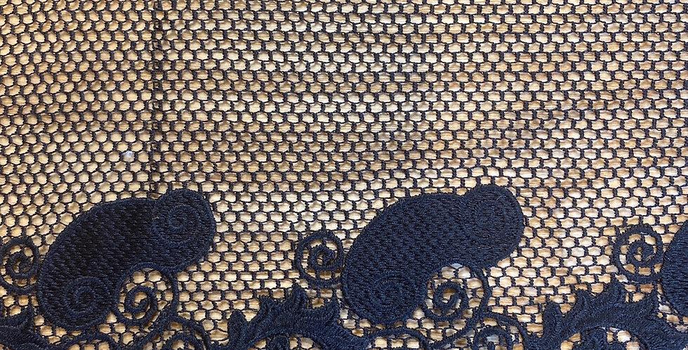 black designer poly lace remnant