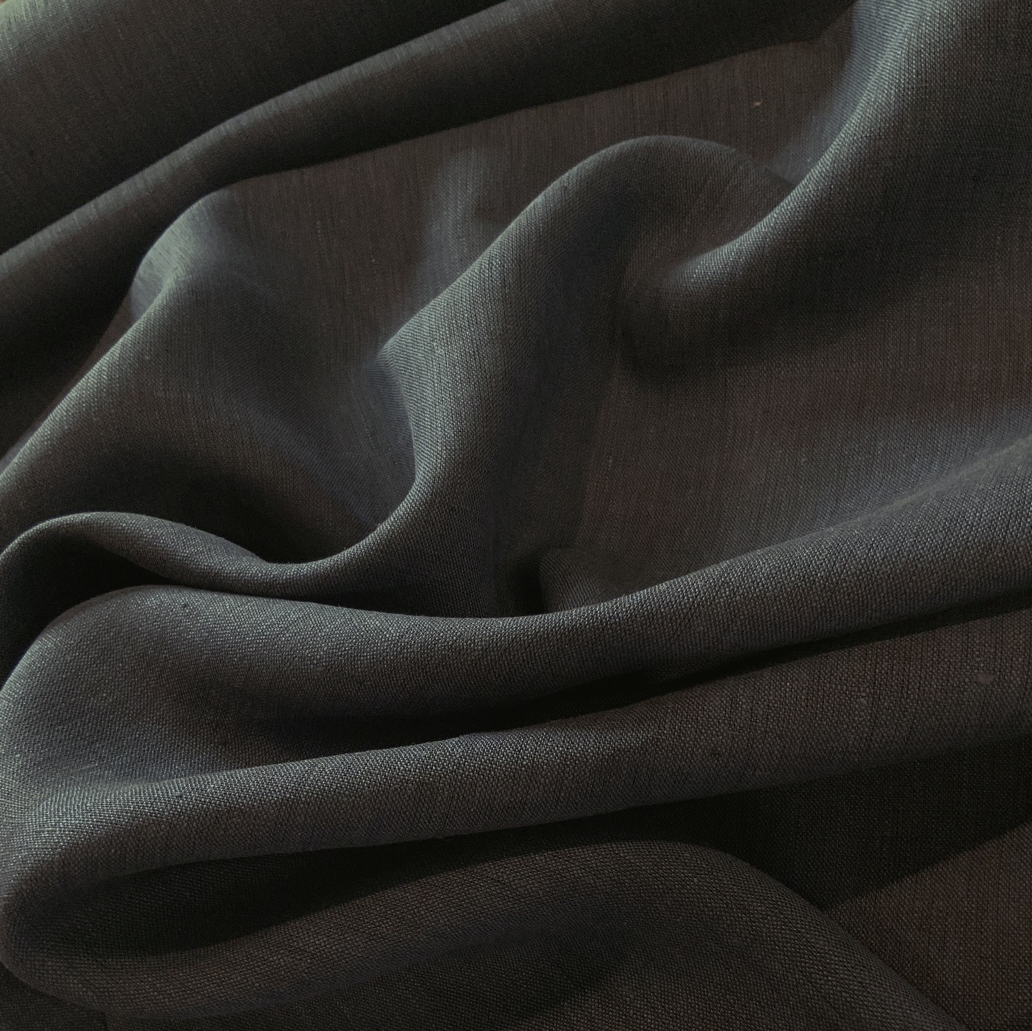 Navy Yarn Dyed Linen....