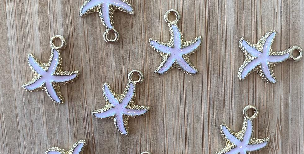 Starfish charm pink