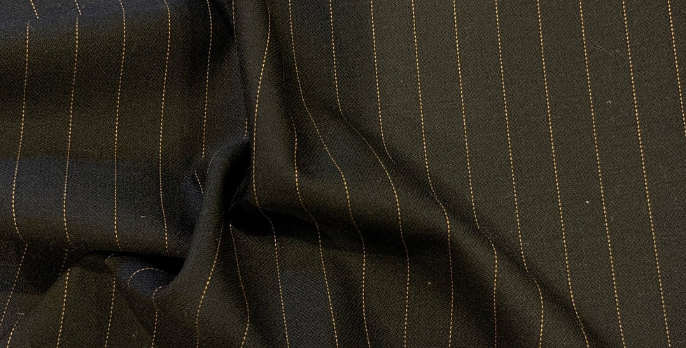 Chicago  Pinstripe Wool Blend Suiting Remnant