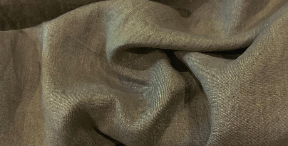 Khaki Light Crinkle Linen...