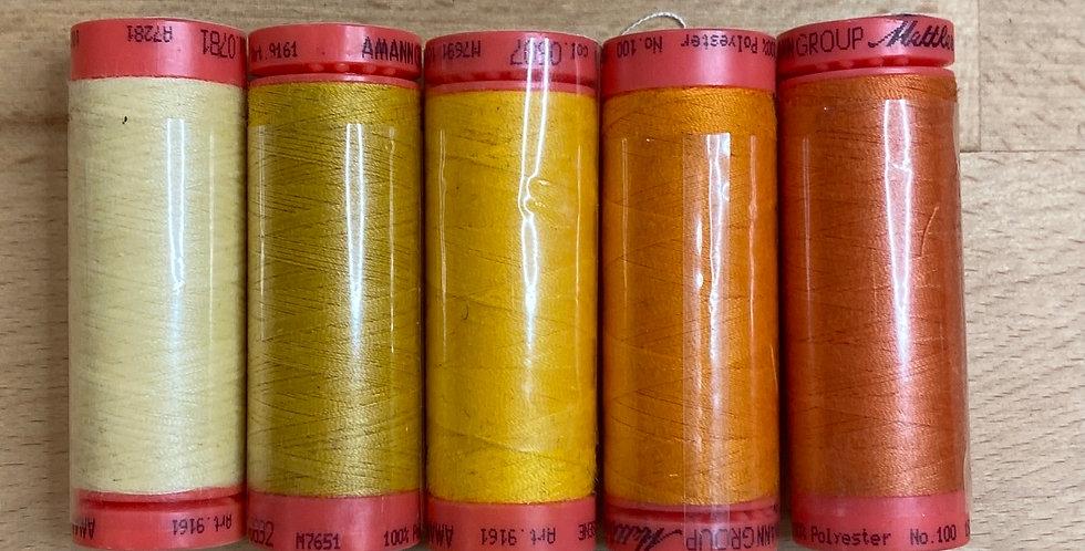 Metrosene Mixed Sunset Thread Pack #7