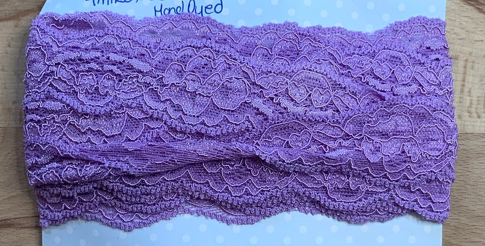 Blight Lilac Hand dyed Stretch Lace