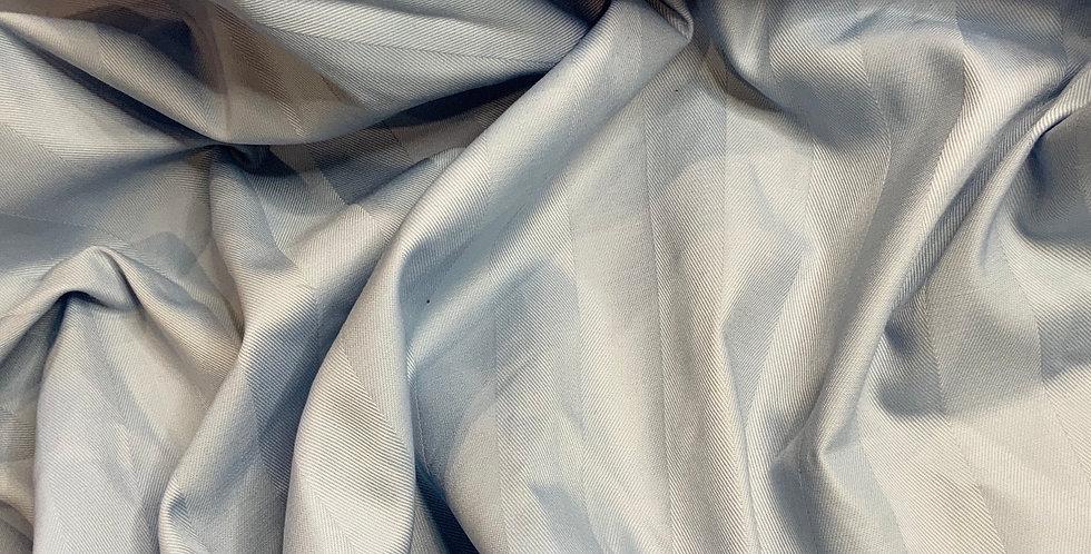 Blue Herringbone Stripe Damask Cotton Remnant