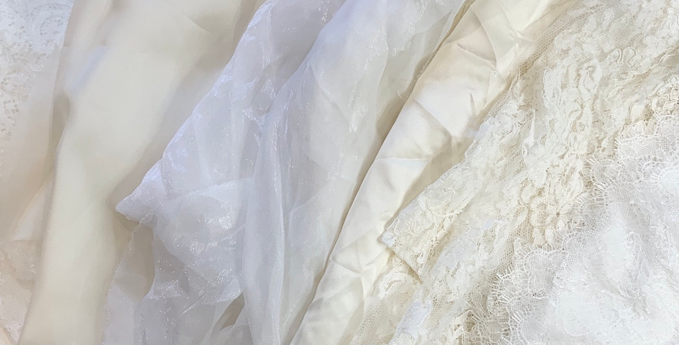 Assorted Bridal Lace and Fabric off Cuts...