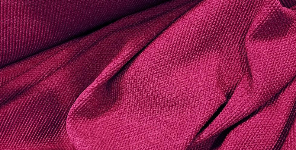 Deep Fuschia Textured Double Knit