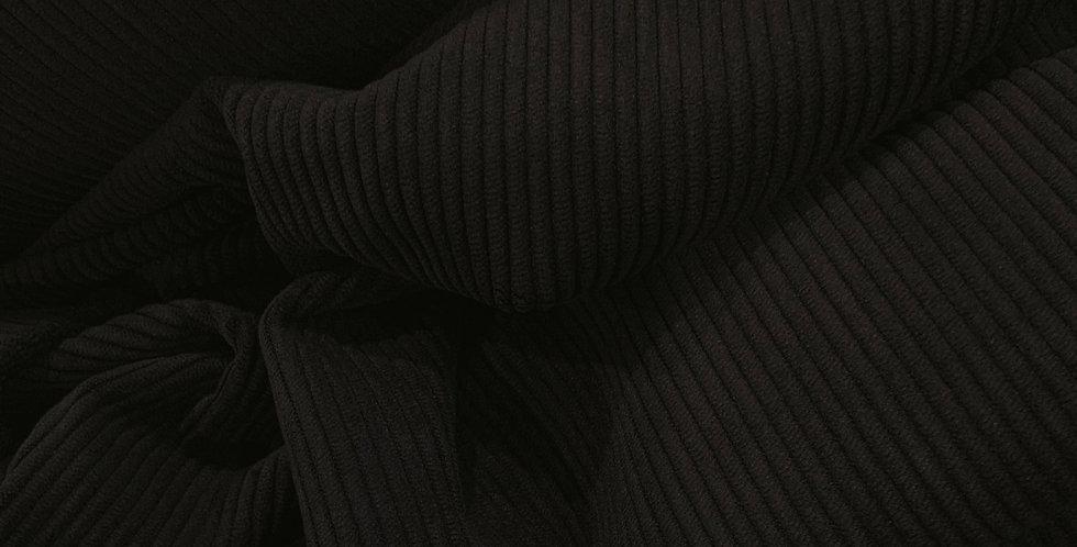 Black Ultra Soft Stretch Corduroy