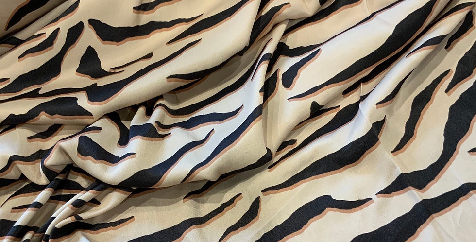 Luxe Tiger Stripes De-Lustred Viscose Satin...