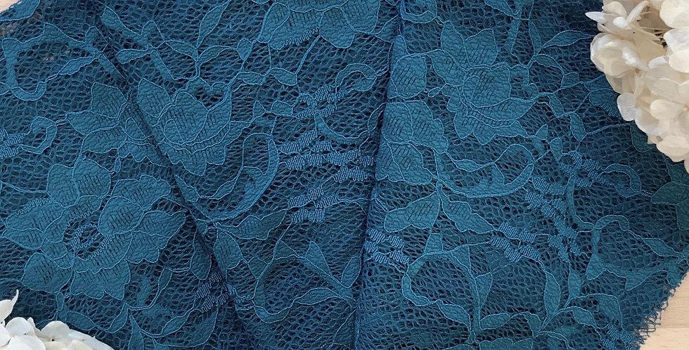 Deep Teal stretch Lace Piece...