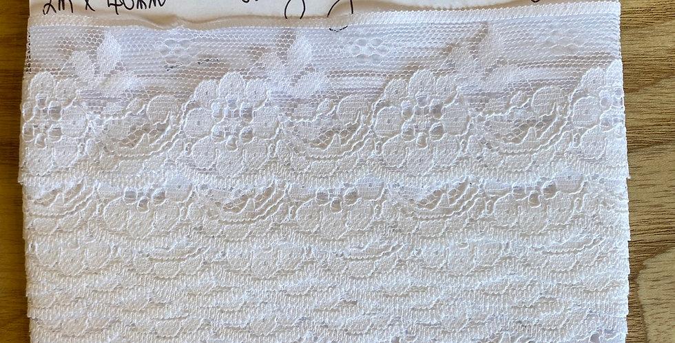 vintage nylon lace remnant