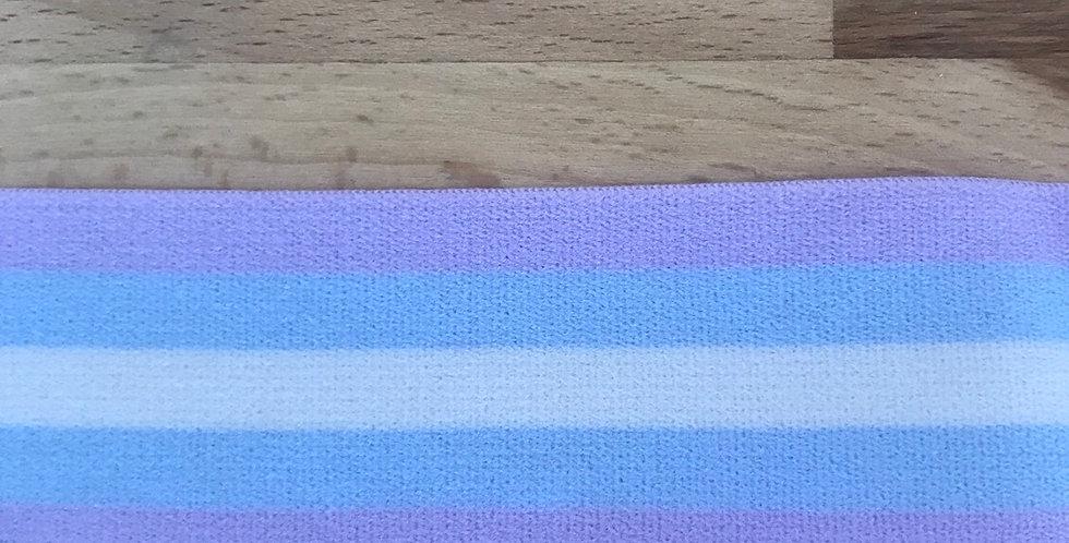Violet stripe elastic