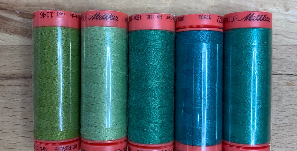 Metrosene Mixed Green  Thread Pack #7