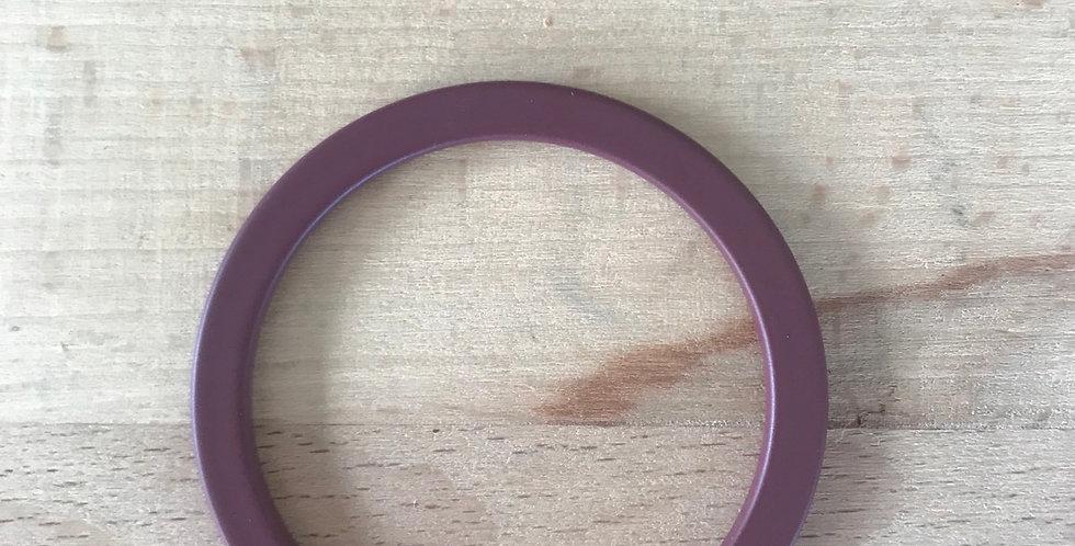 Burgundy matte metal o ring
