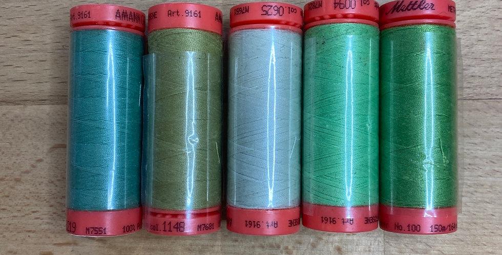 Metrosene Mixed Green Thread Pack #4