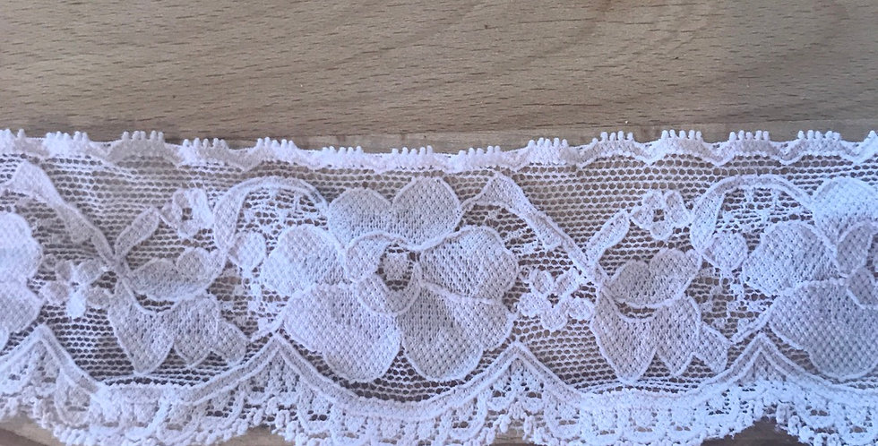 Blush Pink Hand Dyed Stretch Lace...
