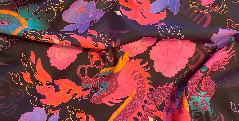 lady mcelroy midnight dragons cotton lawn