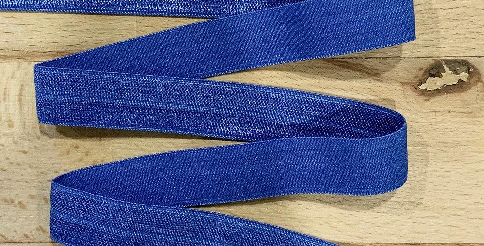 Mid Blue 15mm Foldover Elastic