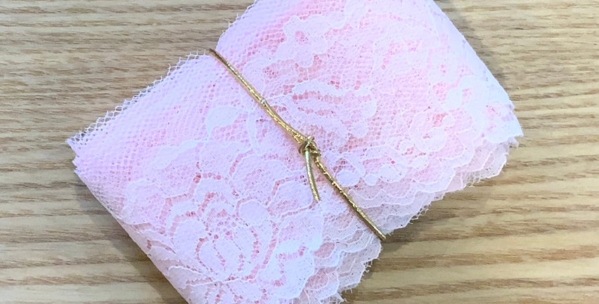 5mtr Bundle Pink Vintage Lace...