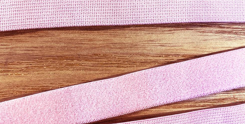 rose pink plush back strapping