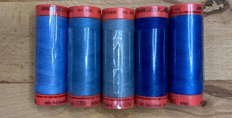 Mixed Blue Metrosene Thread Pack #1