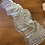 Thumbnail: Ivory Hand Beaded Tulle Off Cut #9064
