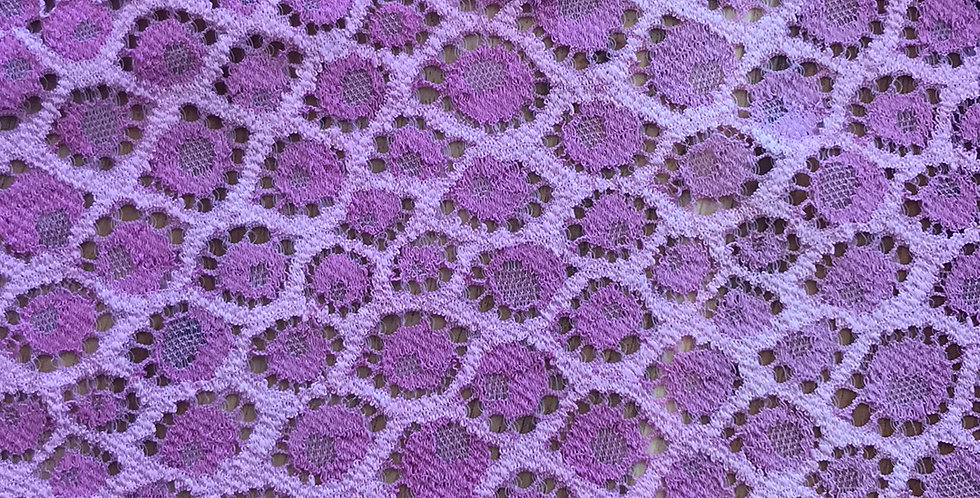 Rose Dot Hand Dyed Stretch Lace....