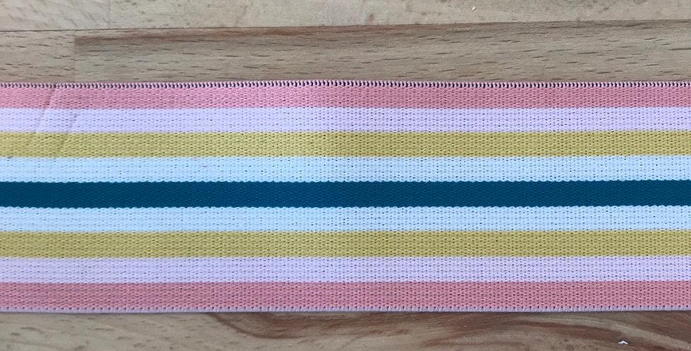 Pastel retro stripe elastic