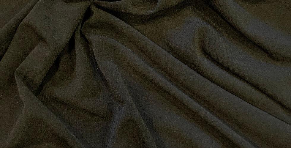 Black Polyester Jersey Knit Remnant