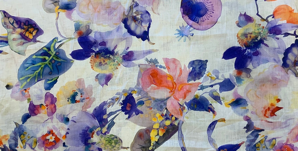 Watercolour Roses Linen...