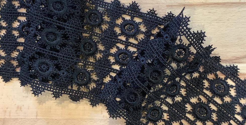 Milla Black 3 Row Lace...