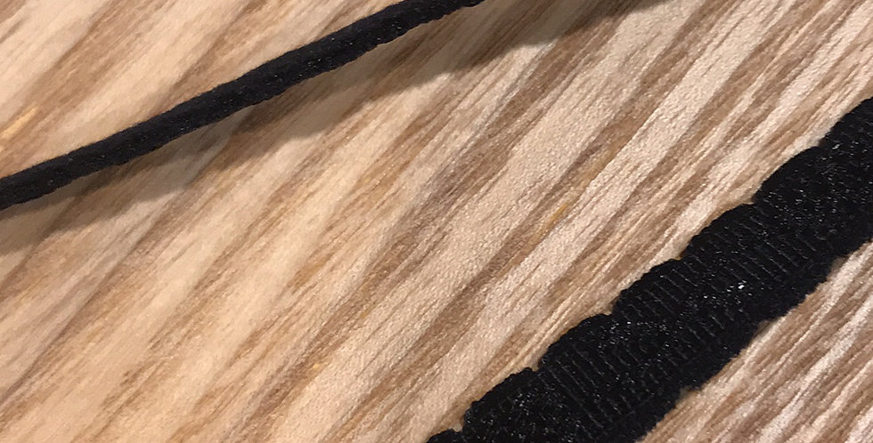 Black self pattern strapping