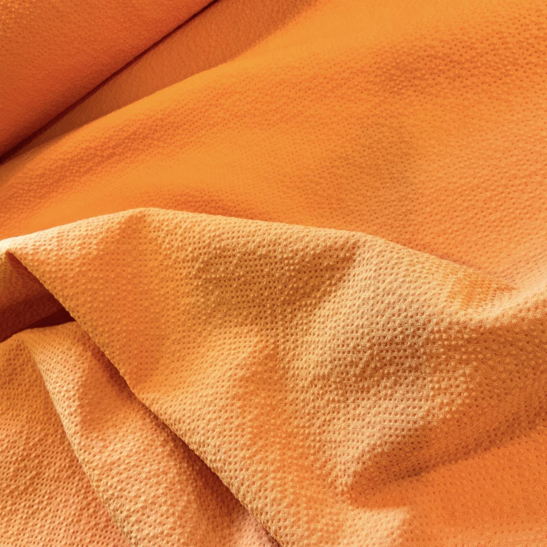 Thumbnail: Citrus Orange Fused Stretch Crepe Remnant