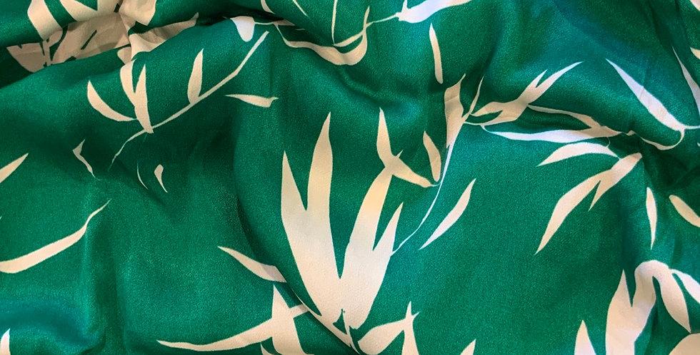 Green Bamboo De-Lustred Viscose Satin
