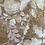 Thumbnail: Dusty pink 3D organza flower border piece 3